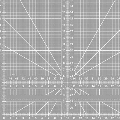 Schneidematte mit Nullpunkt Winkel