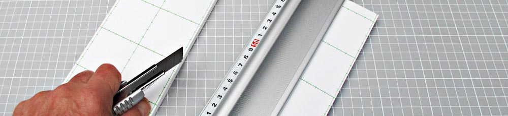 Schneidematte Modellbau Aluminium Lineal