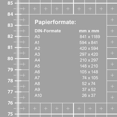Schneidematte Papierformate DIN mm